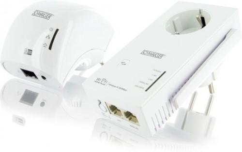 Schwaiger Duo Powerline adapters met WiFi