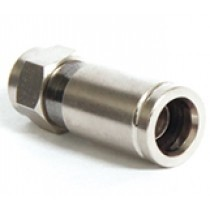 F-connector, compressieconnector