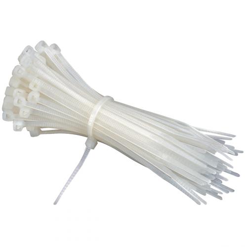 Kabelbinders  of Tie-Rips, 100 Stuks Wit 150mm