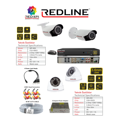 Redline HD Security Set 4A2