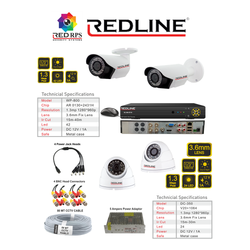Redline HD Security Set 4B1
