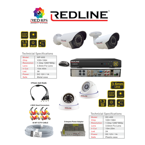 Redline HD Security Set 4C1