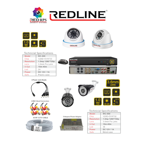Redline HD Security Set 4C2