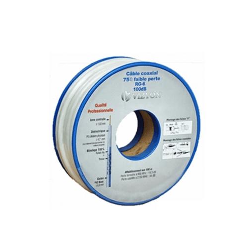 Vizyon Coax kabel, rol 20m inclusief connectoren